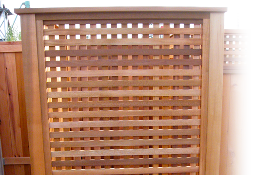 heavy square cedar lattice